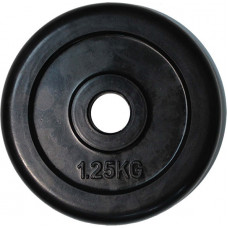 Диск обрезиненный черный d-50mm 1,25 кг RJ1034